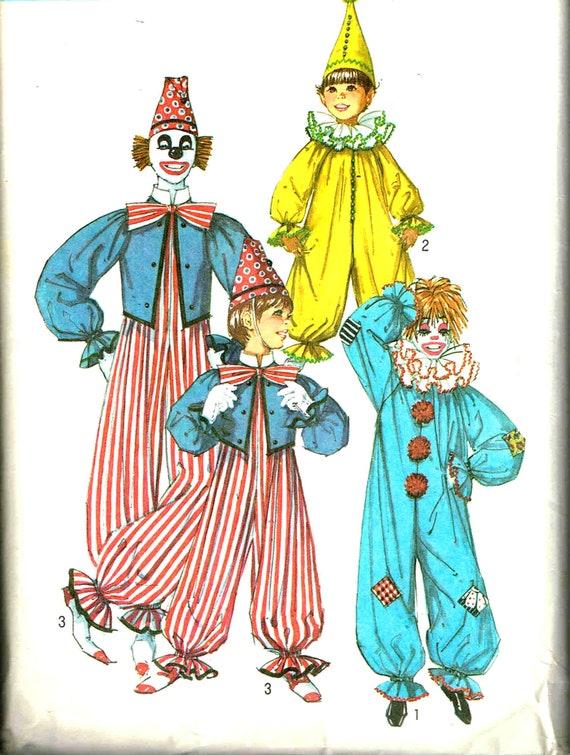 Nähen Schnittmuster Clown Anzug Hut Rüschen Ausschnitt Fliege   Etsy