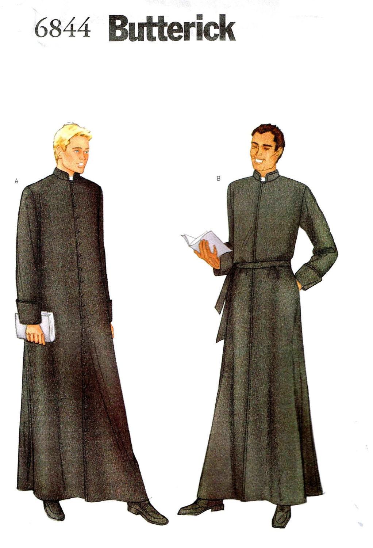 Nähen Muster Mens religiösen Kutte Priester Robe Klerus Kostüm