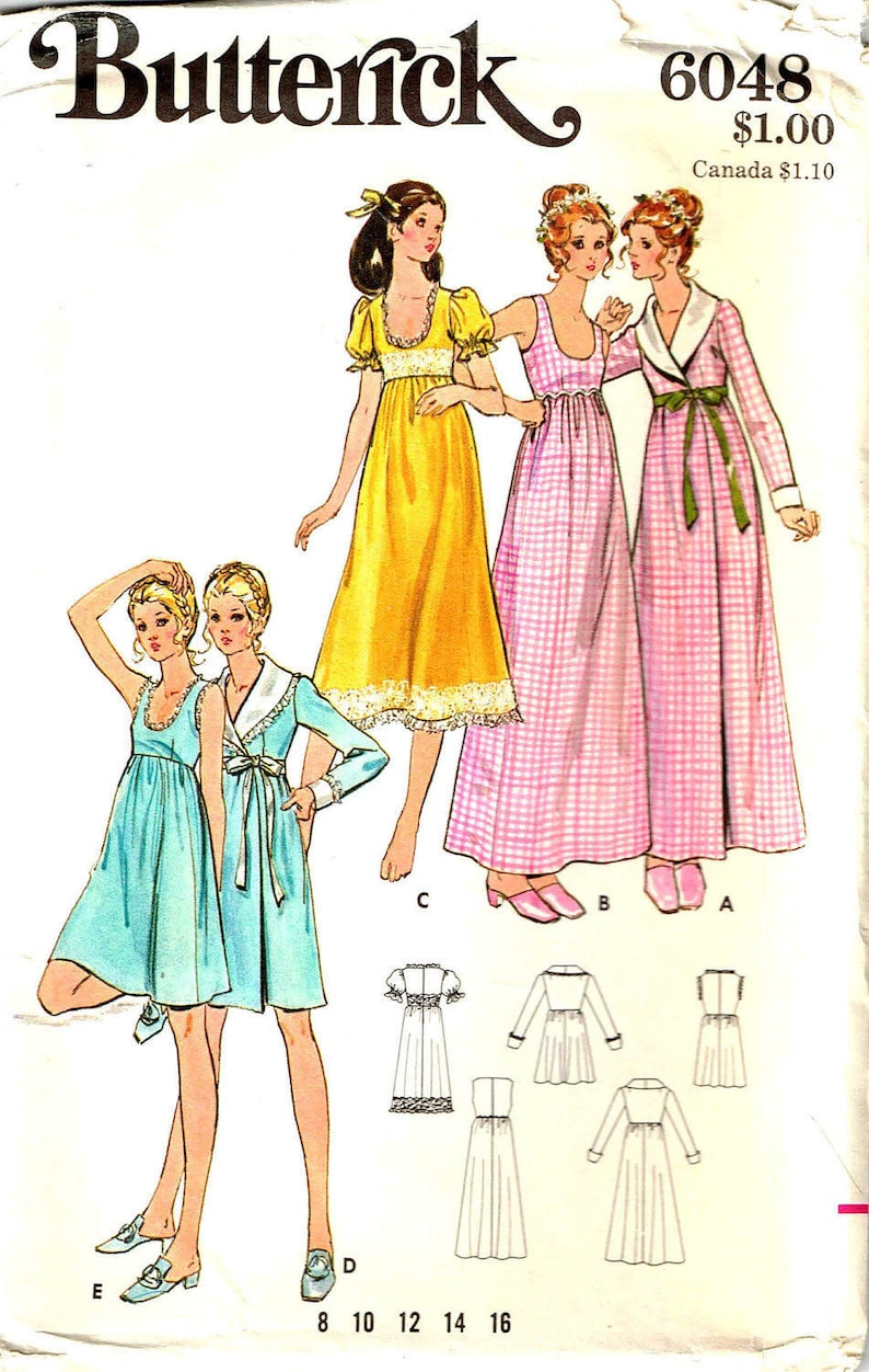 006a69458b Sewing Pattern Robe Housecoat Nightgown Vintage 1970s