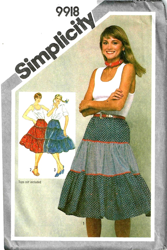 Sewing Pattern Ruffled Tiered Skirt Simplicity 9918 Misses | Etsy