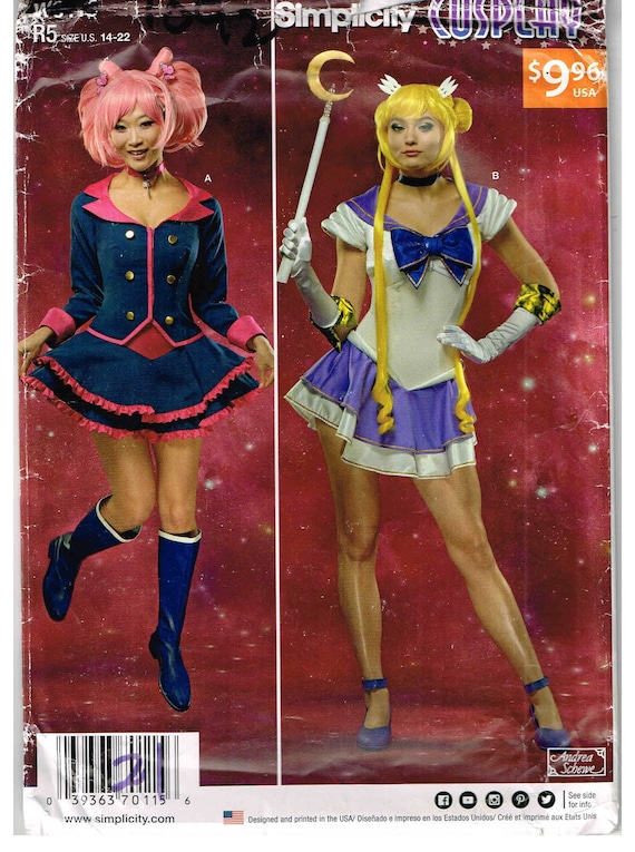 Sewing Crafts Simplicity Sewing PATTERN 1092 Anime Manga Girl Sailor Moon Cosplay Costume
