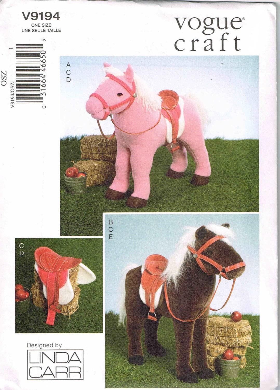 Nähen Muster Plüsch Puppe Pferd und Sattel Zaumzeug Decke Reit