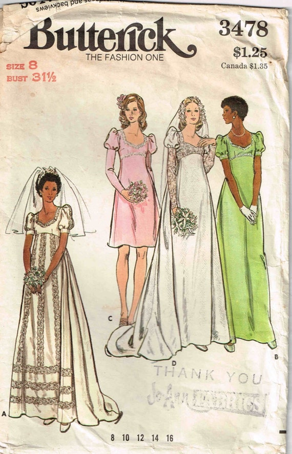 Sewing Pattern Wedding Gown Evening bridesmaid Bridal Dress | Etsy