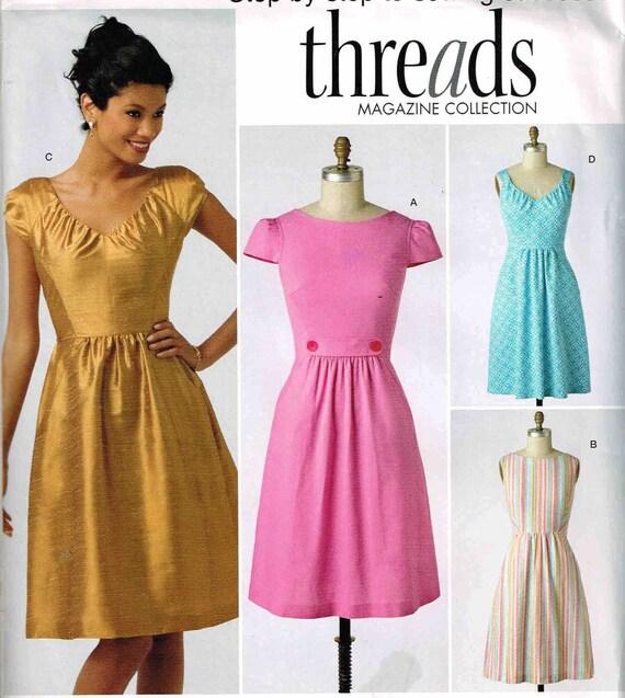 Schnittmuster Kleid Simplicity 2591 eng anliegendem Oberteil | Etsy