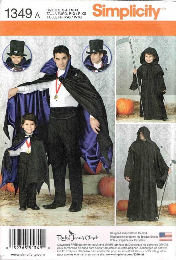 Grim Reaper Nähen Muster Vampir Umhang mit Kapuze Mantel | Etsy