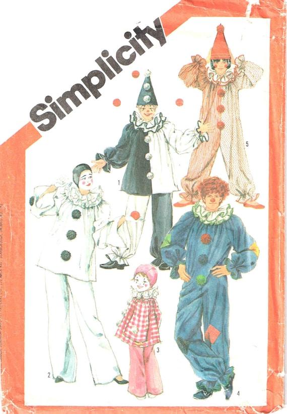 Simplicity Schnittmuster Clown Anzug Hut Top und Hose | Etsy