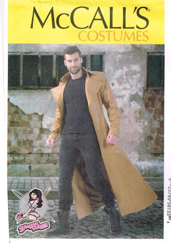Nähen Muster Männer Duster Mantel versehen gefüttert lange | Etsy