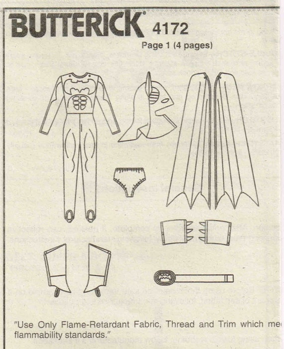 Nähen Muster Kind Batman Cape Halloween Kostüm Kinder Butt | Etsy