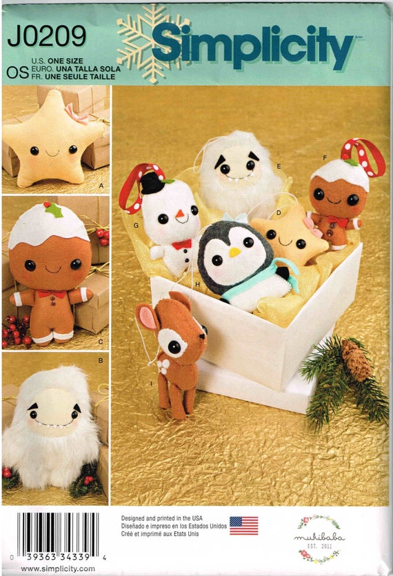 Nähen Muster-Lebkuchen-Mann Ornamente Weihnachten