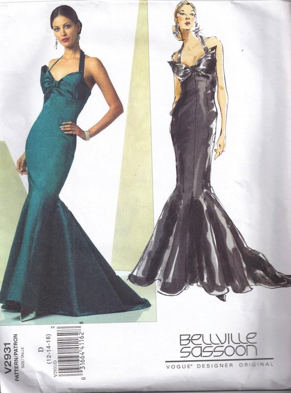 Sewing Pattern Mermaid Dress Ladies Gown Vogue 2931 Misses | Etsy