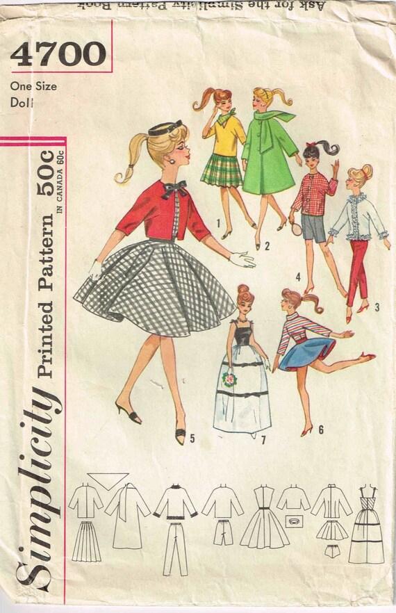 Nähen Schnittmuster Puppe Kleid Kleidung lange Kleid Mantel | Etsy