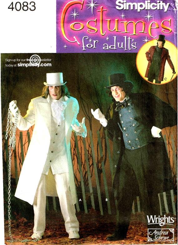 Donna Uomo Cilindro Scrooge Vittoriano Pupazzo di Neve da Festa