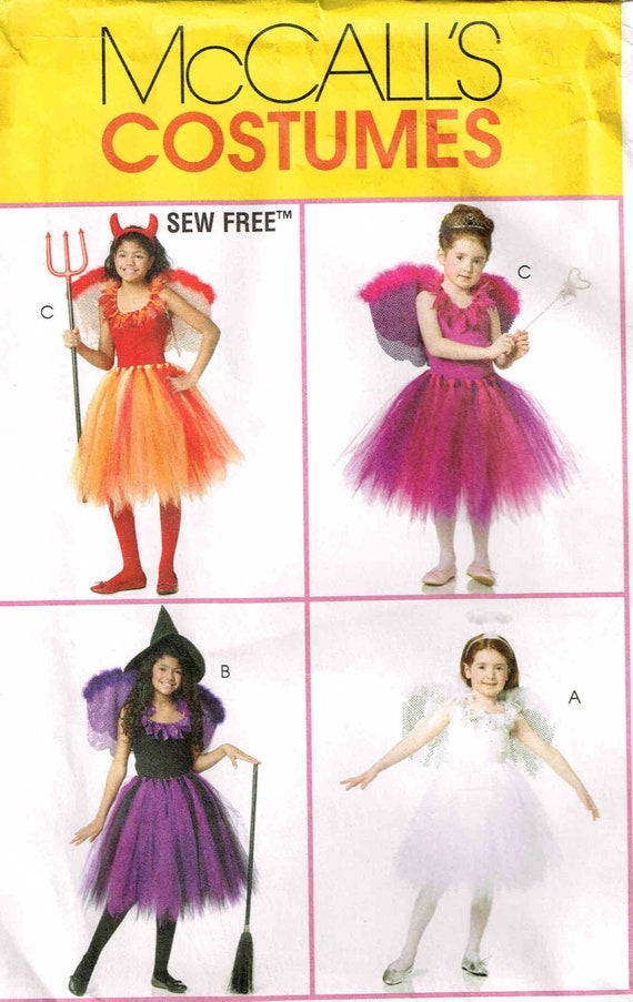 Halloween Costume Sewing Pattern Tutu Wings Fairy Witch | Etsy