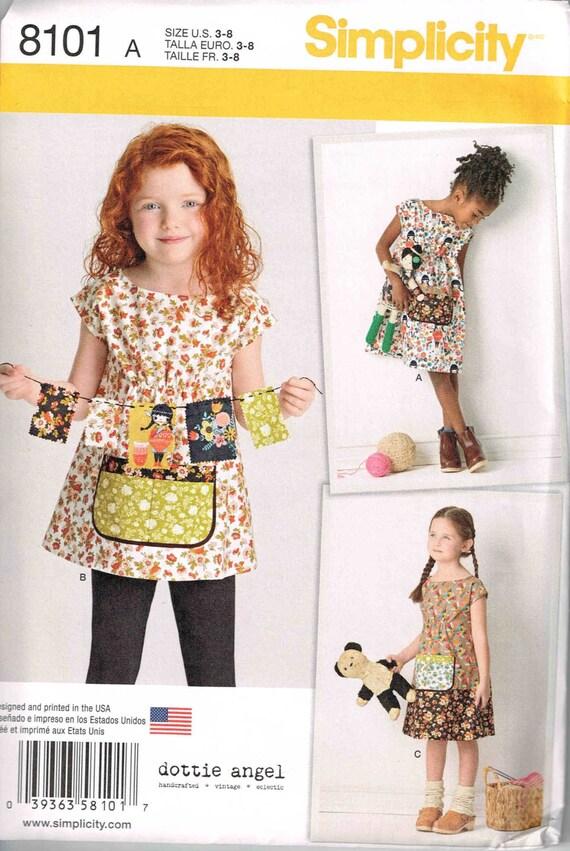 Sewing Pattern Girls Dress and Tunic Child Boho Granny Chic | Etsy
