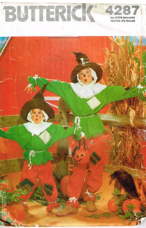 Schnittmuster Halloween Kostüm Vogelscheuche Butt 4287 Top | Etsy