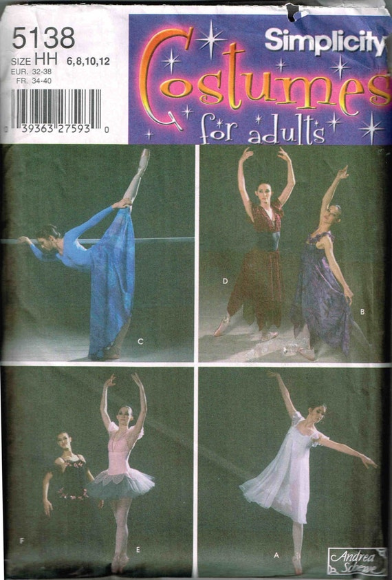 Ballerina Ballett Tänzerin Kostüm Kleid Simplicity 5138 Andrea   Etsy