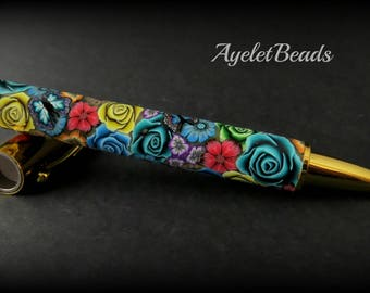Beautiful handmade floral One of a kind Pen.