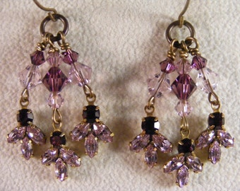 Crystal Amethyst Earrings