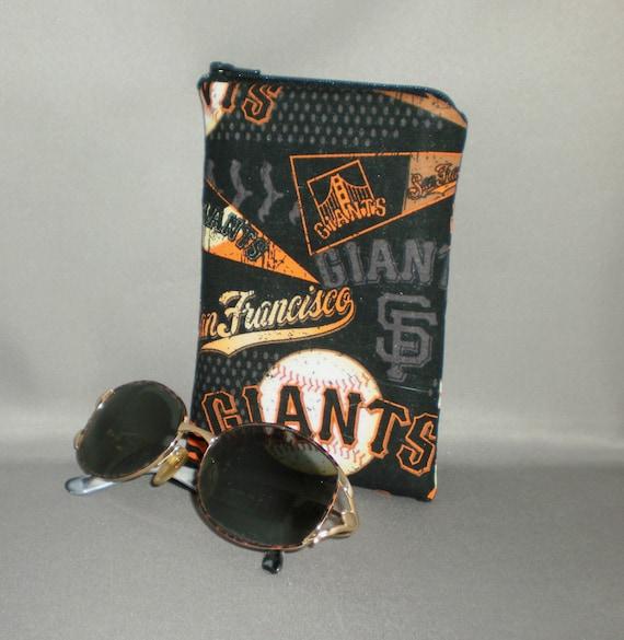 Giants Eyeglass Sunglasses Case Zipper Top Cell Phone, Camera, iPod Bag Padded Zipper Pouch San Francisco Giants