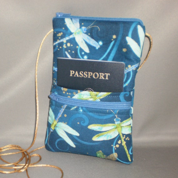 Dragonfly Smart Phone Purse Dragonflies - Wallet on a String Passport Purse Hipster Sling Bag
