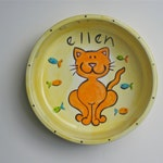 kitty cat bowl hand painted personalized from photos of YOUR cat