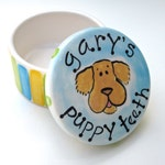puppy teeth boxes hand painted from photos of YOUR dog custom and personalized
