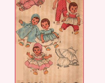"PATTERN Doll Clothes 8813 for 17/"" Shirley Temple Judy Garland Harriet Ayer Ideal"