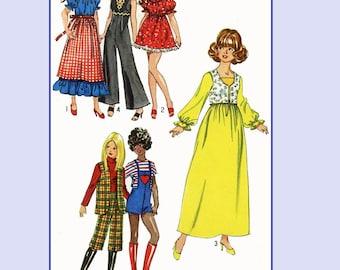Doll Clothes Pattern 5673 Barbie Midge Wonder Woman Super girl Bat girl Samantha
