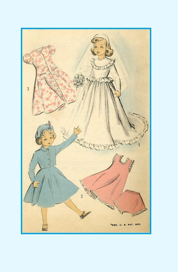 "Toni Doll Clothes Vtg Dress Wardrobe Pattern ~ 19/"" 20/"" 21/"" Miss Revlon Cissy"