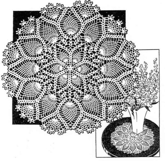 Vintage Crochet Pattern 2517 Pineapple Doily 11 Inch In Size Etsy