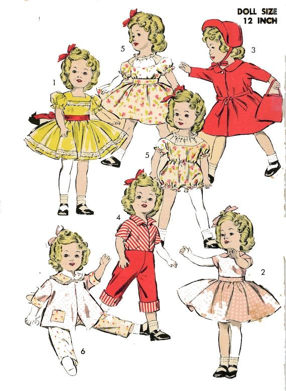 Muñeca Vintage ropa patrón 9603 para Shirley Temple Judy | Etsy