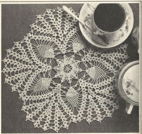Pineapple Star Doily Pattern 8805 Vintage Crochet Pattern From Etsy