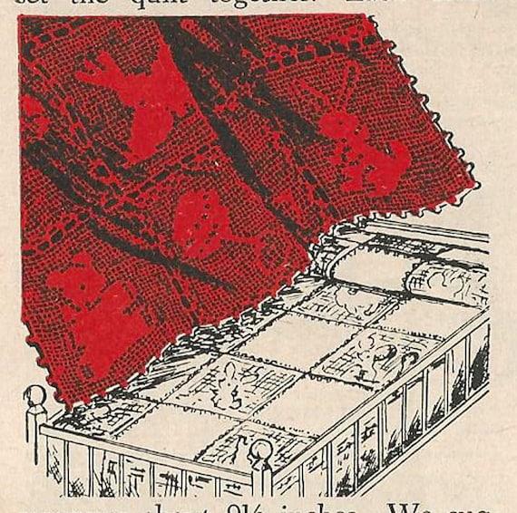 Animal Crib Spread In Filet Crochet Pattern Taken From 1956 Etsy