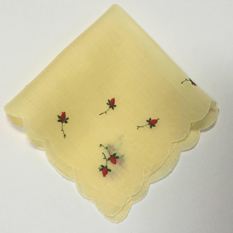 Red /& Yellow Roses Handkerchief