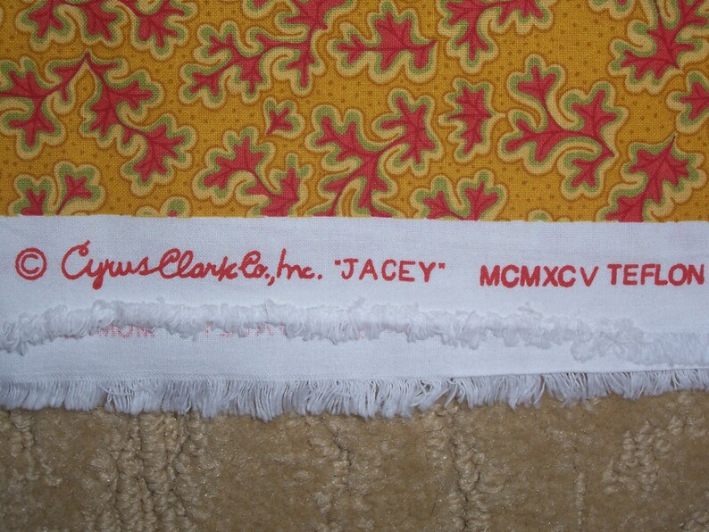 2 Yards Cyrus Clark Jacey Gold and Red Decorator Fabric