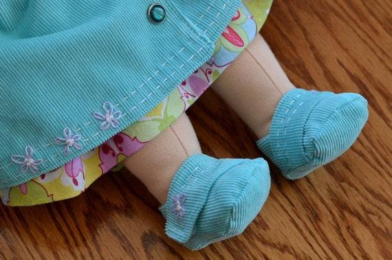 Waldorf Puppe Schuhe PDF Muster 15 16 weiche Puppe   Etsy
