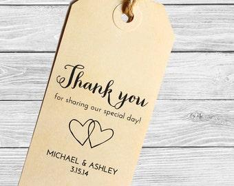 Custom wedding favor stamp--Thank you!--142TS