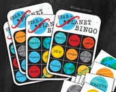 Star and Planet BINGO printable game with 20 unique bingo cards  Learn the solar system with fun educational game