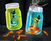 INSTANT DOWNLOAD Rat in a jar gummy worm printable bag inset for halloween candy or small toys spooky weird science Halloween party favor