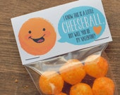 Valentines Cheeseballs Cheese Puffs Bag Label INSTANT DOWNLOAD valentine treat topper printable DIY file Cheesy Funny Valentine's Day Gift