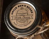 Custom Labels for Homemade Booze or moonshine set of 20 Kraft textured brown paper stickers for mason jars 2 inch circular labels