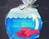 INSTANT DOWNLOAD printable Valentines candy gift DIY fish bowl gold fish swedish fish gummies I'm so glad we're in the same school Valentine
