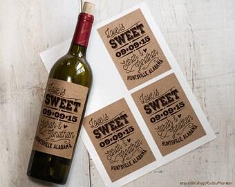 kraft wine labels etsy . homemade wine labels