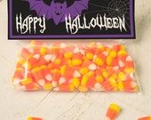 INSTANT DOWNLOAD Halloween Bat Treat Topper Candy Bag Topper Label homemade candy trick or treat bag purple black spooky printable top