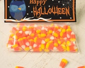 INSTANT DOWNLOAD Halloween Owl Treat Topper Candy Bag Topper Label homemade candy trick or treat bag cute owl stars printable top