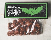 INSTANT DOWNLOAD Halloween bat guano Treat Topper Candy Bag Topper Label homemade candy trick or treat bag gross boy silly funny halloween