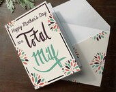 INSTANT DOWNLOAD Funny Mother's Day Card printable MILF great for husband to give to wife on mother's day print at home instant download