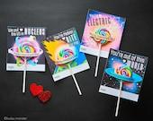Science valentine Space Science Lollipop Holder Card Printable DIY Atom Saturn Tesla Electricity meteor comet asteroid meteorite valentines