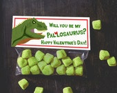 Allosaurus Dinosaur Valentine Treat Topper INSTANT DOWNLOAD printable print at home valentine's day candy bag label top boy valentine funny