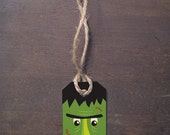 INSTANT DOWNLOAD frankenstein halloween gift tag for candy or classroom treats print at home DIY label gift tag spooky graphic monster